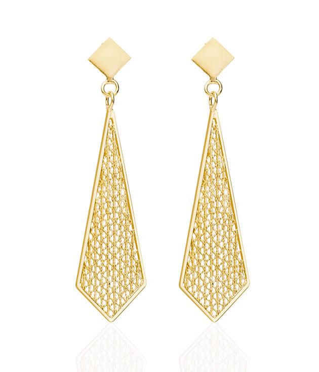 GAITANA Gold Earrings Fair Sustainable Jewelry